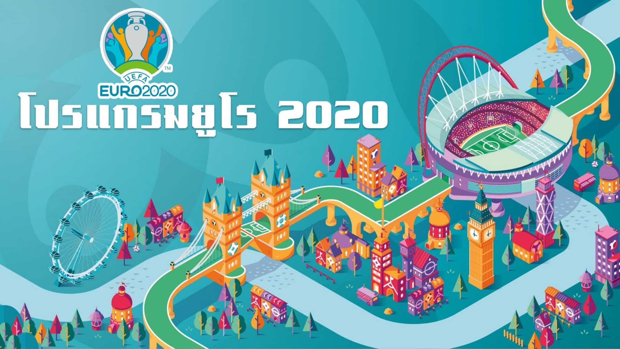 โปรแกรมฟุตบอลยูโร 2020
