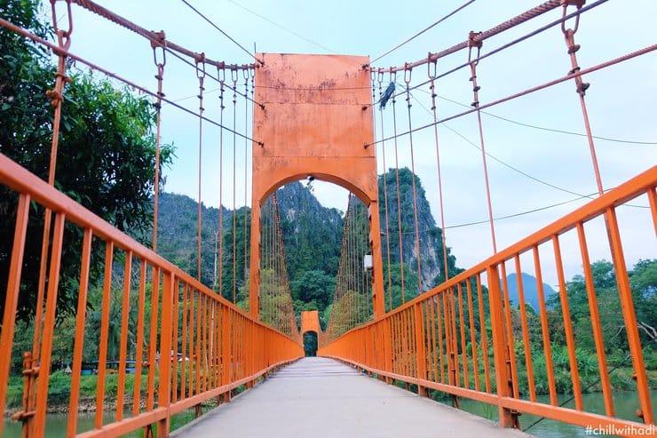 สะพานส้ม เขตพื้นที่วังเวียง